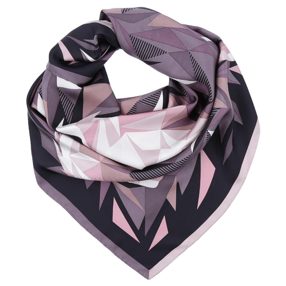 Платок Fabretti, цвет: сиреневый, розовый. CX1617-01. Размер 90 см х 90 смCX1617-01-2Стильный платок станет прекрасным дополнением к вашему образу. Оформлен оригинальным принтом.