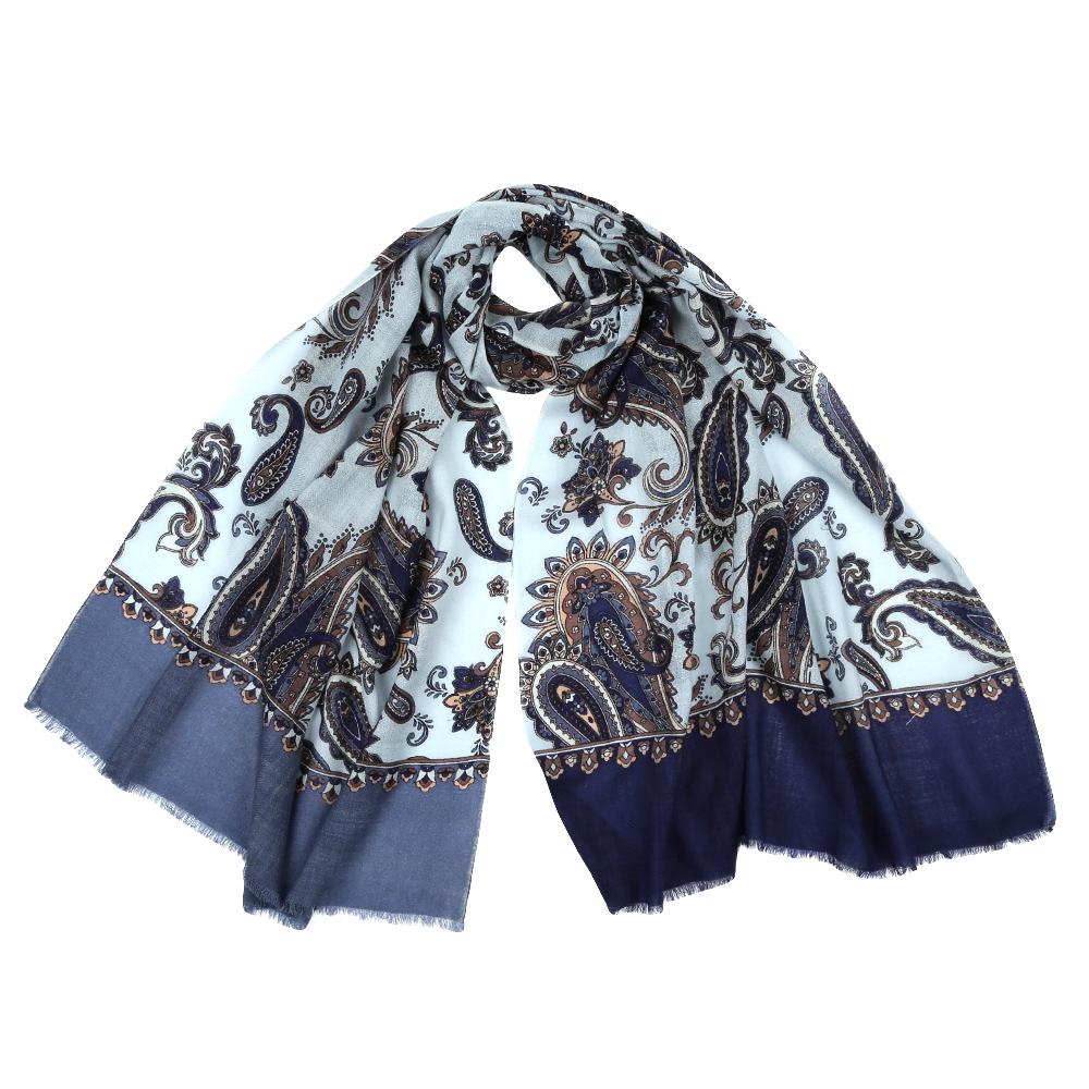 Шарф женский Leo Ventoni, цвет: голубой, синий. YNNT1626. Размер 70 см х 182 смYNNT1626-7Стильный шарф поможет внести живость в любой образ, подарит уют и согреет от холодного ветра. Выполнен из высококачественного материала и оформлен оригинальным принтом.