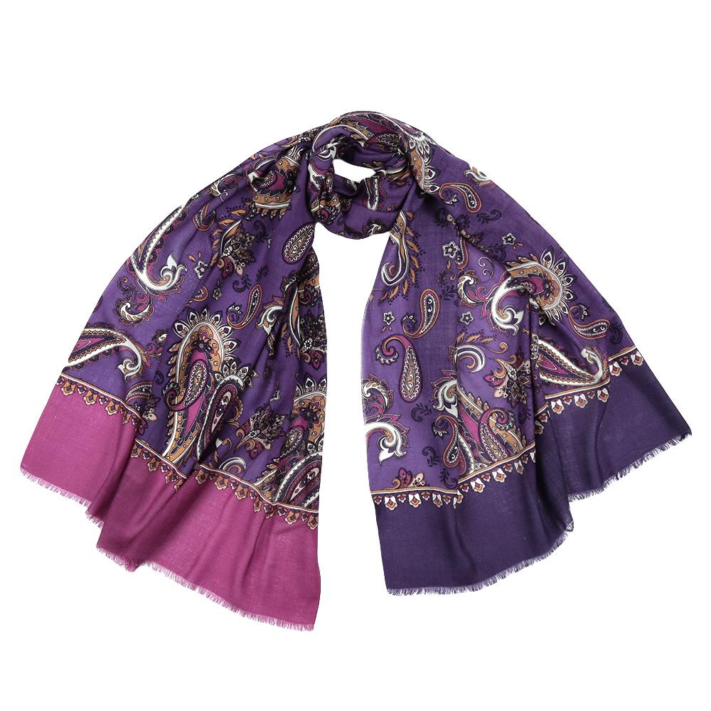 Шарф женский Leo Ventoni, цвет: фиолетовый. YNNT1626. Размер 70 см х 182 смYNNT1626-30Стильный шарф поможет внести живость в любой образ, подарит уют и согреет от холодного ветра. Выполнен из высококачественного материала и оформлен оригинальным принтом.