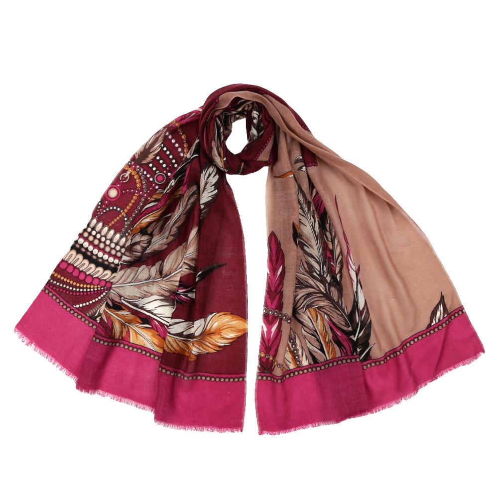 Шарф женский Fabretti, цвет: красный, розовый. YNNT1523. Размер 70 см х 182 смYNNT1523-8Стильный шарф поможет внести живость в любой образ, подарит уют и согреет от холодного ветра. Выполнен из высококачественного материала и оформлен оригинальным принтом.