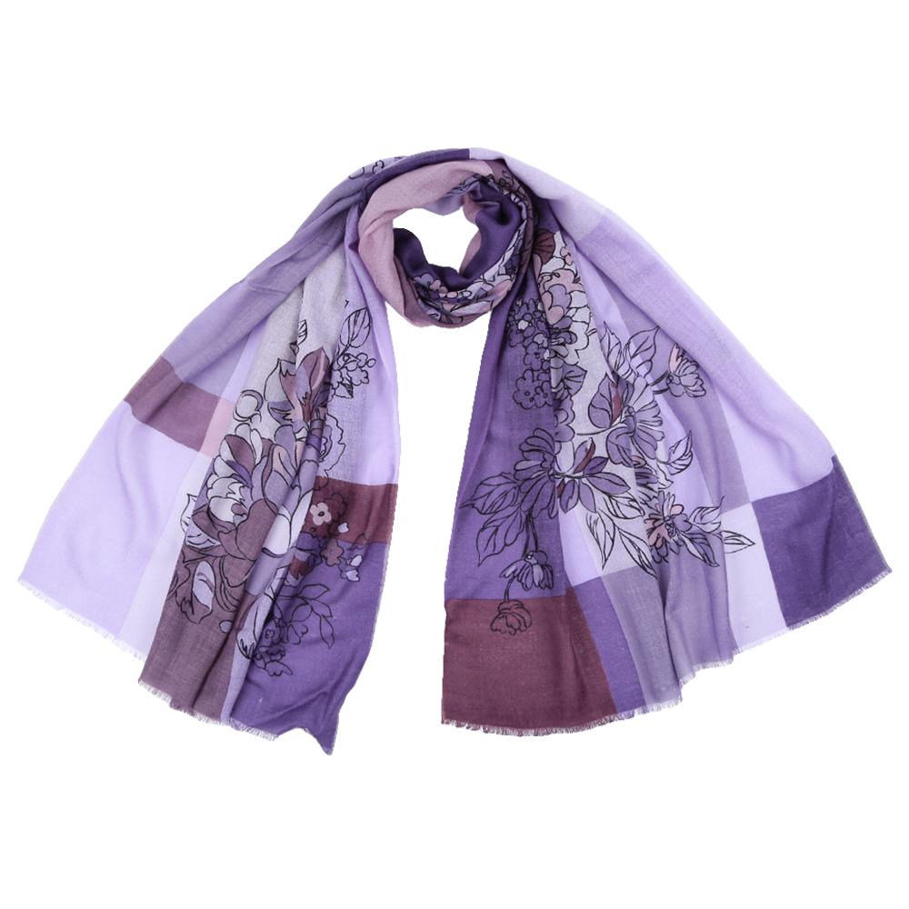 Шарф женский Fabretti, цвет: сиреневый. YNNT1515. Размер 70 см х 188 смYNNT1515-05Стильный шарф поможет внести живость в любой образ, подарит уют и согреет от холодного ветра. Выполнен из высококачественного материала и оформлен оригинальным принтом.