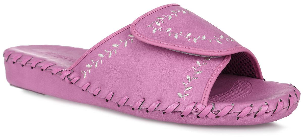 Тапки женские Pansy, цвет: розовый. N9368. Размер L (38)N9368_RoseДомашняя обувьот Pansy - стандарт технологий комфорта из Японии:Mould - тапки Pansy проектируется и изготавливается по технологии современной модельной обуви: многослойная подошва и обувные материалы, обеспечивают функциональность модельной обуви при весе одного тапка от 100 до max 150 г . 3 Point - японская ортопедическая подошва снижает нагрузку на основные опорные точки, уменьшает разогрев стопы и поддерживает ее в оптимальном положении. Aerolite - технология фирмы Teijin Cordley Ltd. по изготовлению искусственной кожи с заранее заданными свойствами. Волокна аэрокапсульного волокна с включениями пузырьков воздуха выращивают с параметрами превышающие характеристики натуральной кожи по массе, гигроскопичности и износостойкости. Cool Max - сетка, используемая для быстрого отвода и испарения влаги, снижения температуры на особо нагруженных поверхностях по патенту фирмы Toray Inc. Zeomix - глубокая антибактериальная обработка ионами серебра по технологии Asahi Karuray на все время эксплуатации.Biosil - пропитка деодорантом Dow Jones Corning длительного действия эффективно нейтрализует запахи. Super Fine - грязеотталкивающее покрытие, обеспечивающее легкое удаление загрязнений влажной салфеткой. Функцию антискольжения - выполняют специальные нашивки на подошве.Тепло человеческих рук - используется при ручном соединении верхней стельки к подошве с помощью традиционной скорняжной техники. Модель на застежке-липучке, выполнена из искусственной кожи, декорированнойвышивкой.Удобные тапочки - незаменимая вещь в гардеробе каждой женщины!