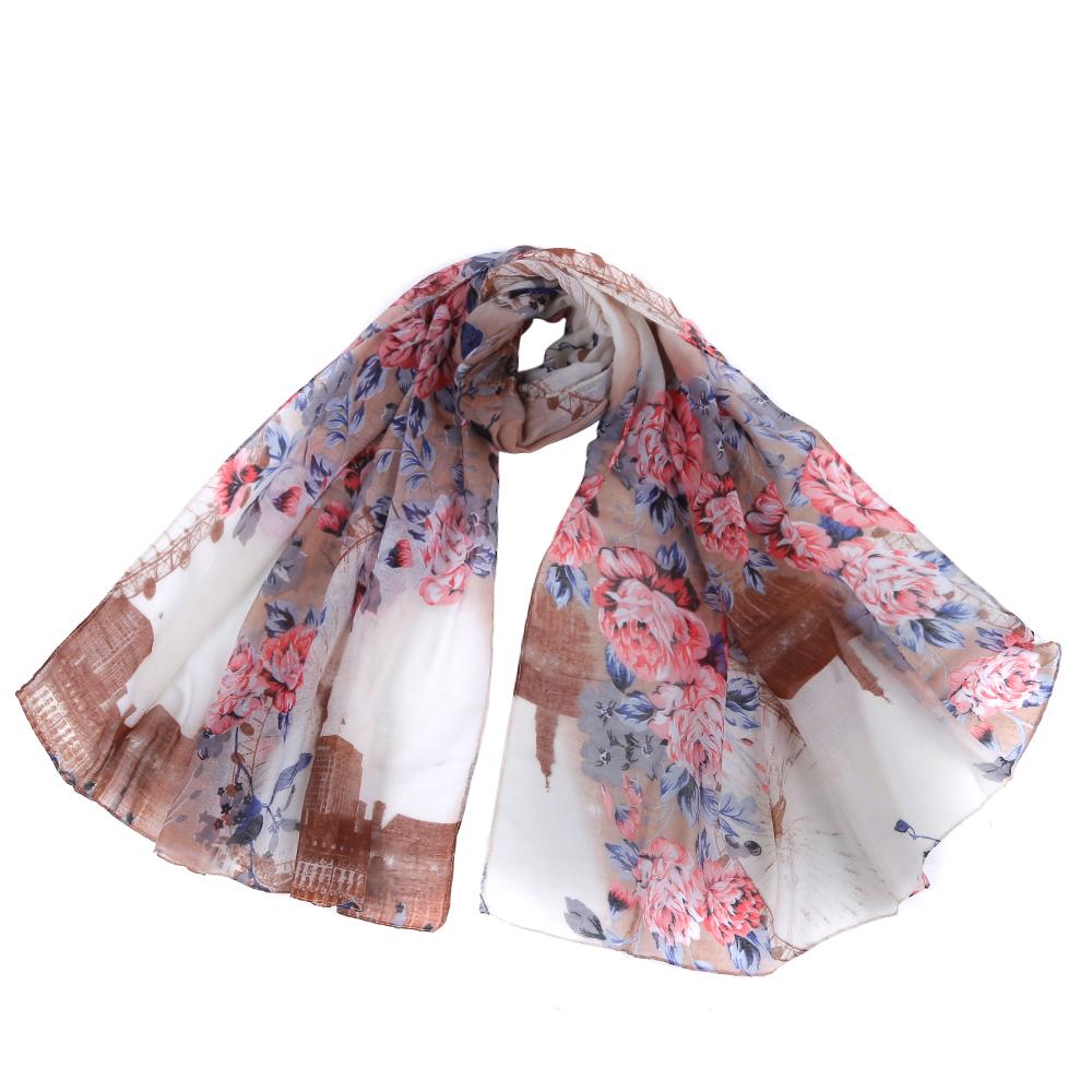 Шарф женский Fabretti, цвет: розовый, бежевый. SR12754. Размер 90 см х 180 смSR12754-1Стильный шарф поможет внести живость в любой образ, подарит уют и согреет от холодного ветра. Выполнен из высококачественного материала и оформлен цветочным принтом.