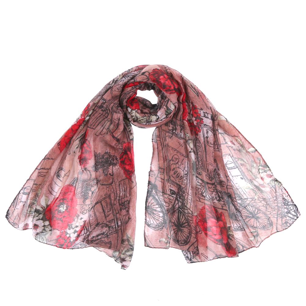Шарф женский Fabretti, цвет: коричневый. SR12753. Размер 90 см х 180 смSR12753-6Стильный шарф поможет внести живость в любой образ, подарит уют и согреет от холодного ветра. Выполнен из высококачественного материала и оформлен оригинальным принтом.