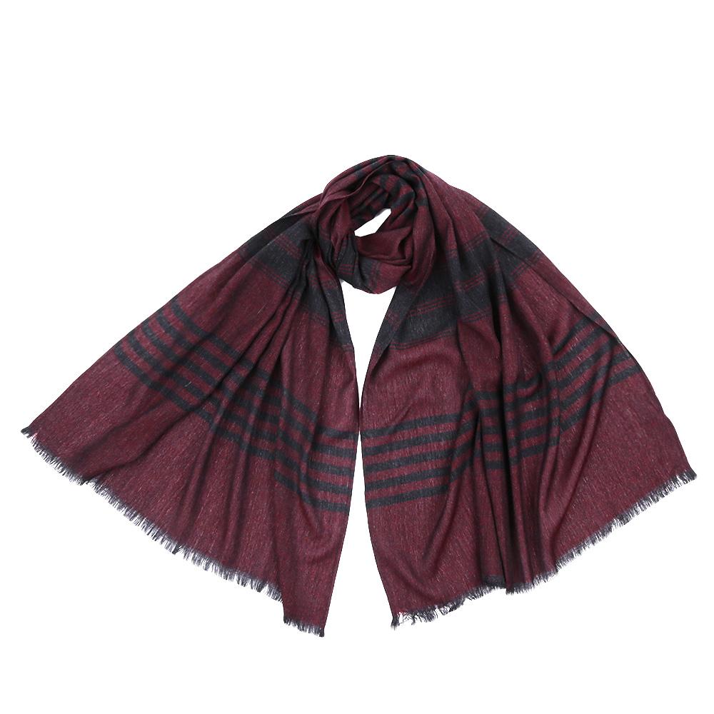 Шарф мужской Fabretti, цвет: серый, бордовый. JCJ64. Размер 70 см х 180 смJCJ64-3Стильный шарф поможет внести живость в любой образ, подарит уют и согреет от холодного ветра. Выполнен из высококачественного материала.