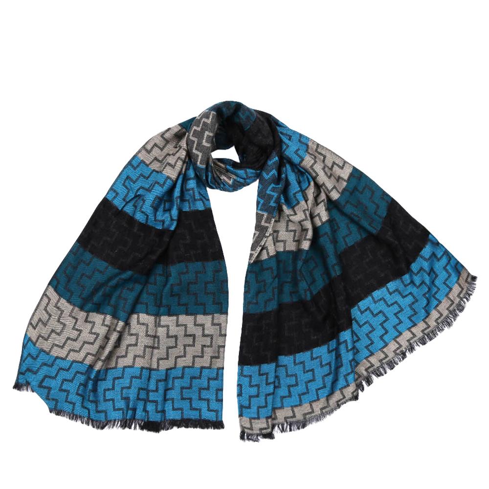 Шарф женский Fabretti, цвет: синий. JCJ63. Размер 70 см х 180 смJCJ63-3Стильный шарф поможет внести живость в любой образ, подарит уют и согреет от холодного ветра. Оформлен оригинальным принтом.