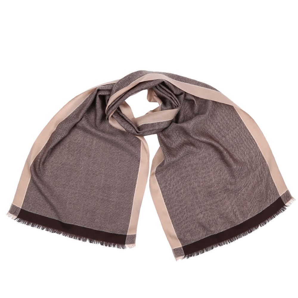 Шарф мужской Fabretti, цвет: коричневый, бежевый. GYHY129. Размер 40 см х 183 смGYHY129-CСтильный шарф поможет внести живость в любой образ, подарит уют и согреет от холодного ветра. Выполнен из высококачественного материала.