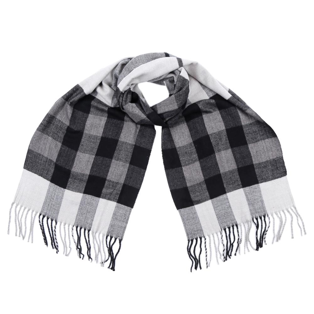 Шарф мужской Fabretti, цвет: серый, белый. GY16008. Размер 30 см х 186 смGY16008Стильный шарф Fabretti поможет внести живость в любой образ, подарит уют и согреет от холодного ветра. Шарф дополнен длинной бахромой.