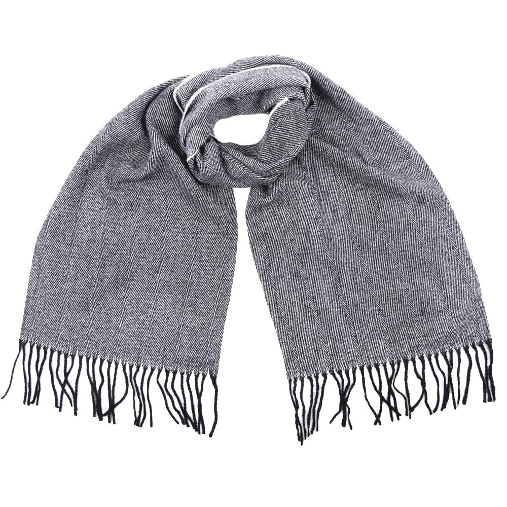 Шарф мужской Fabretti, цвет: светло-серый. GY16001. Размер 30 см х 186 смGY16001-7Стильный шарф Fabretti поможет внести живость в любой образ, подарит уют и согреет от холодного ветра. Шарф дополнен длинной бахромой.