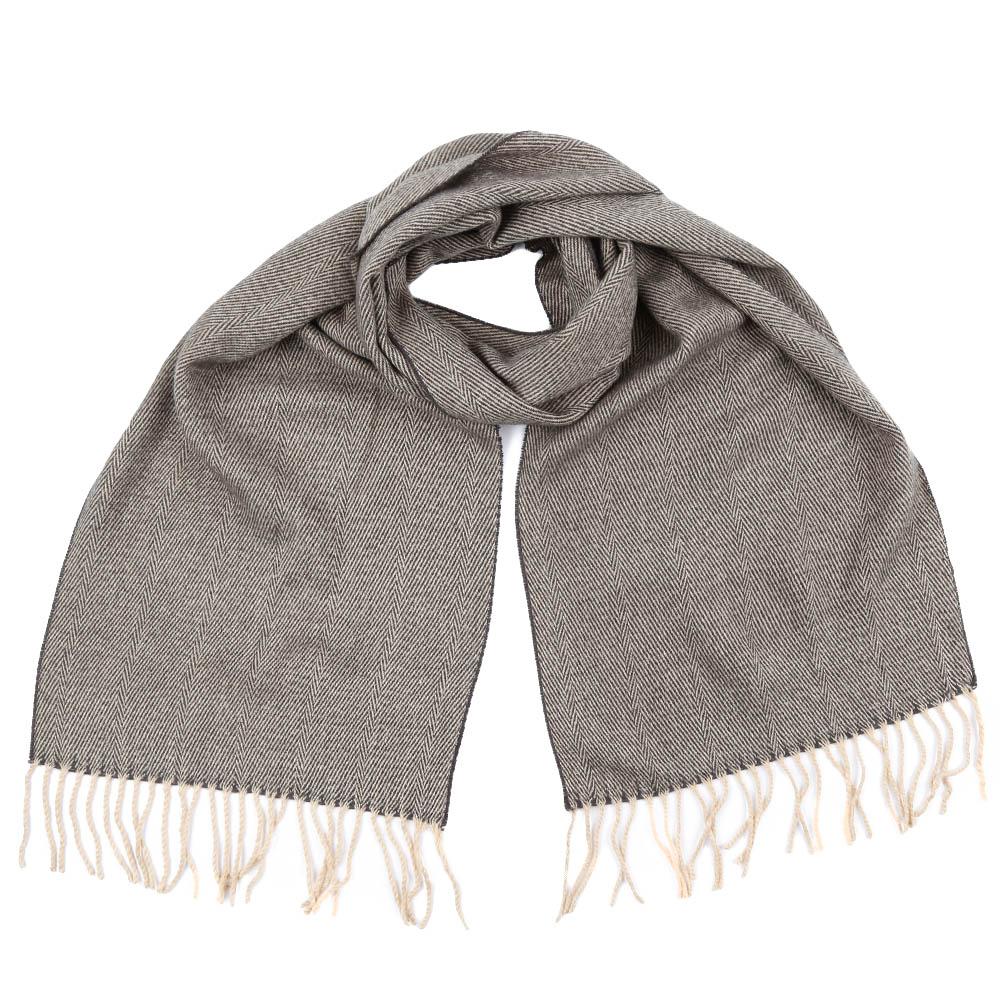Шарф мужской Fabretti, цвет: светло-коричневый. GY16001. Размер 30 см х 186 смGY16001-5Стильный шарф Fabretti поможет внести живость в любой образ, подарит уют и согреет от холодного ветра. Шарф дополнен длинной бахромой.