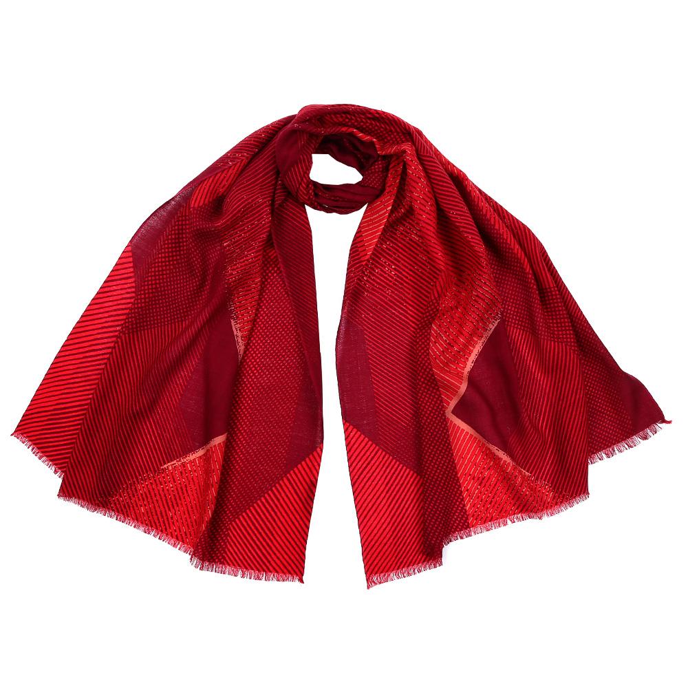 Шарф женский Fabretti, цвет: красный. GL1601. Размер 70 см х 180 смGL1601-1Стильный шарф поможет внести живость в любой образ, подарит уют и согреет от холодного ветра. Оформлен оригинальным принтом.