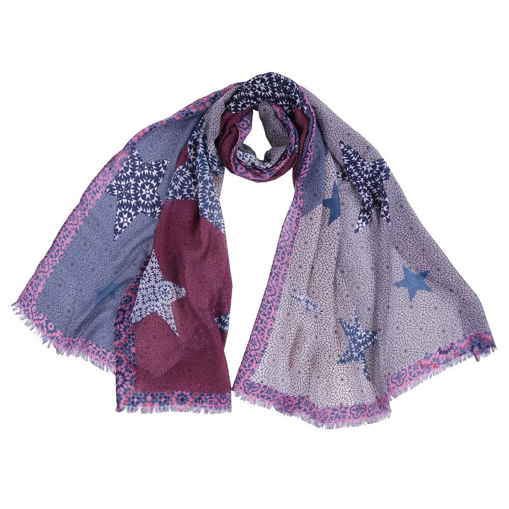 Шарф женский Fabretti, цвет: мультиколор. FR1510. Размер 75 см х 190 смFR1510-2Стильный шарф поможет внести живость в любой образ, подарит уют и согреет от холодного ветра. Выполнен из высококачественного материала и оформлен оригинальным принтом.