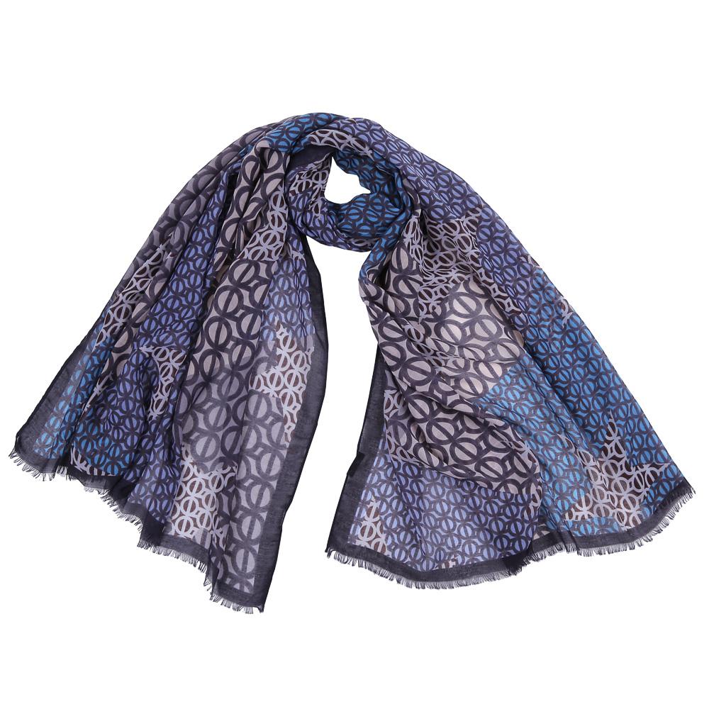 Шарф женский Fabretti, цвет: голубой, серый. FR1505. Размер 100 см х 190 смFR1505-1Стильный шарф поможет внести живость в любой образ, подарит уют и согреет от холодного ветра. Выполнен из высококачественного материала и оформлен оригинальным принтом.