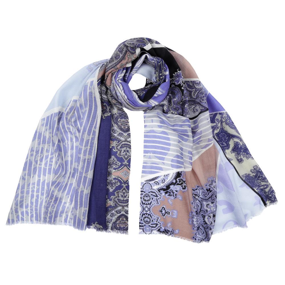 Шарф женский Fabretti, цвет: голубой. FIR202. Размер 70 см х 192 смFIR202-5Стильный шарф поможет внести живость в любой образ, подарит уют и согреет от холодного ветра. Выполнен из высококачественного материала и оформлен оригинальным принтом.