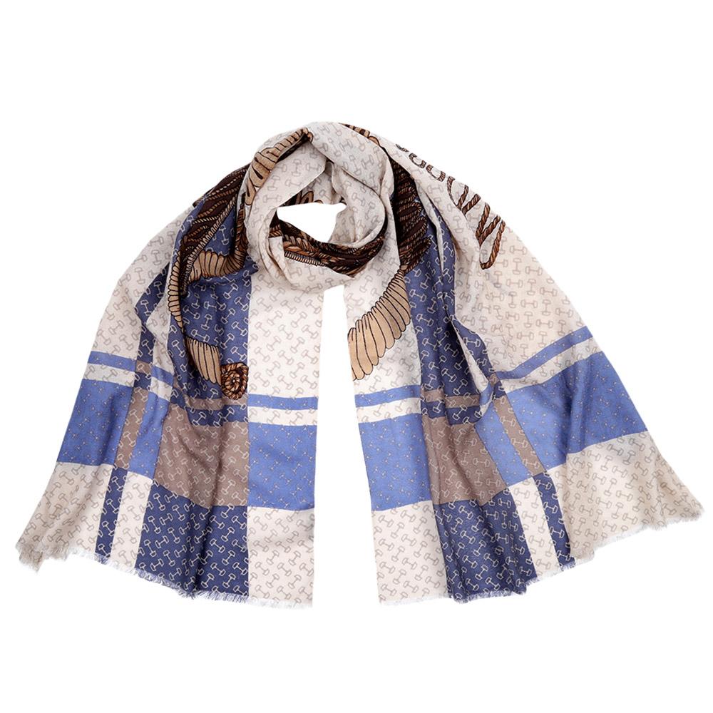 Шарф женский Fabretti, цвет: голубой, молочный. FIL376. Размер 70 см х 188 смFIL376-10Стильный шарф поможет внести живость в любой образ, подарит уют и согреет от холодного ветра. Выполнен из высококачественного материала и оформлен оригинальным принтом.