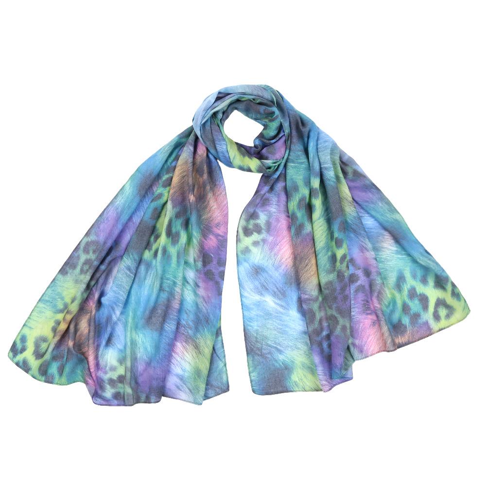 Шарф женский Fabretti, цвет: голубой. F1553. Размер 70 см х 190 смF1553-2Стильный шарф поможет внести живость в любой образ, подарит уют и согреет от холодного ветра. Выполнен из высококачественного материала и оформлен оригинальным принтом.