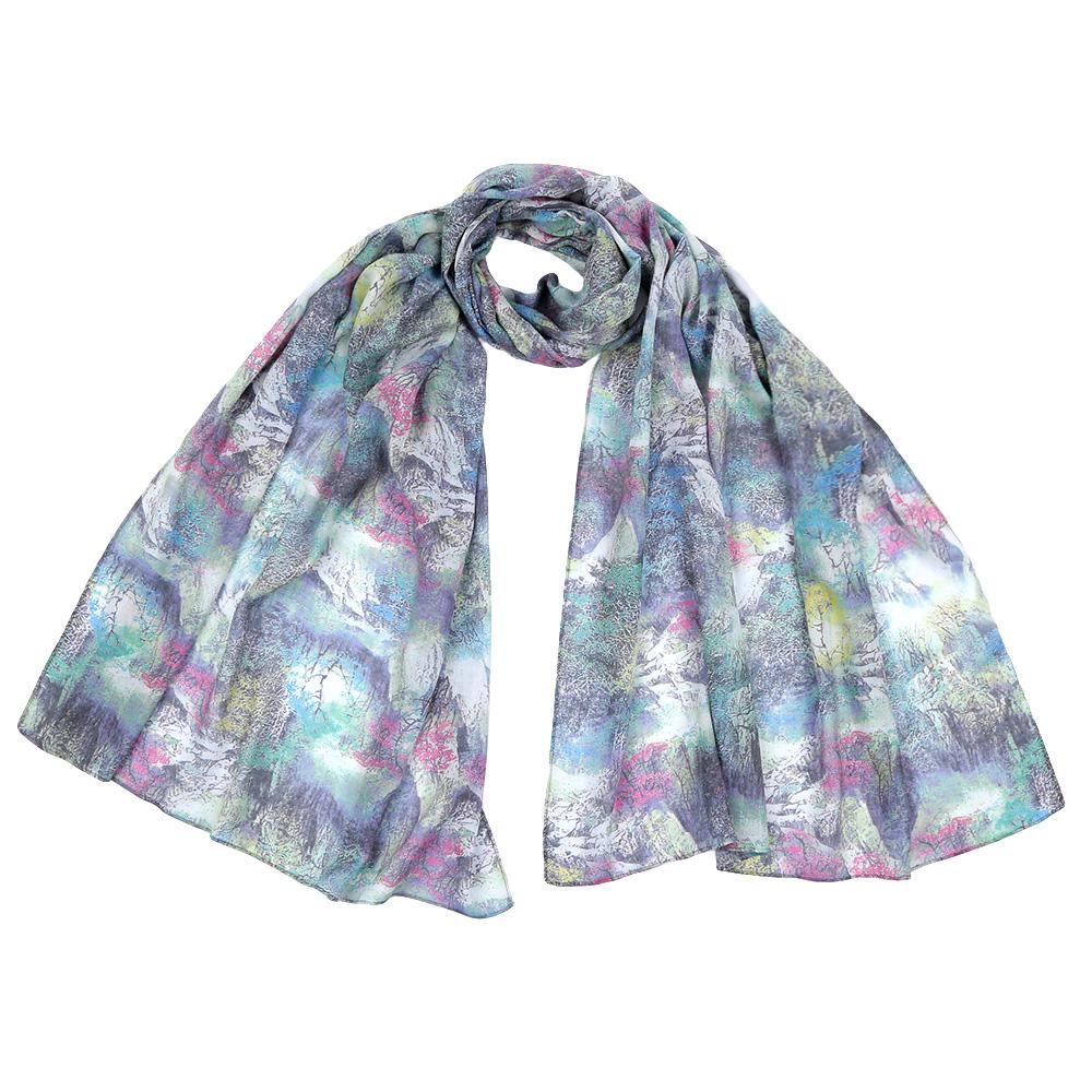 Шарф женский Fabretti, цвет: мультиколор. F1549. Размер 70 см х 190 смF1549-4Стильный шарф поможет внести живость в любой образ, подарит уют и согреет от холодного ветра. Выполнен из высококачественного материала и оформлен оригинальным принтом.