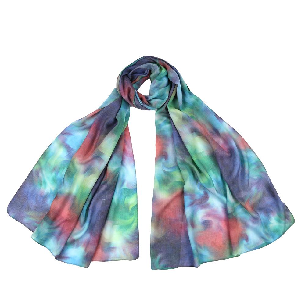 Шарф женский Fabretti, цвет: голубой. F1543. Размер 70 см х 190 смF1543-5Стильный шарф поможет внести живость в любой образ, подарит уют и согреет от холодного ветра. Выполнен из высококачественного материала и оформлен оригинальным принтом.