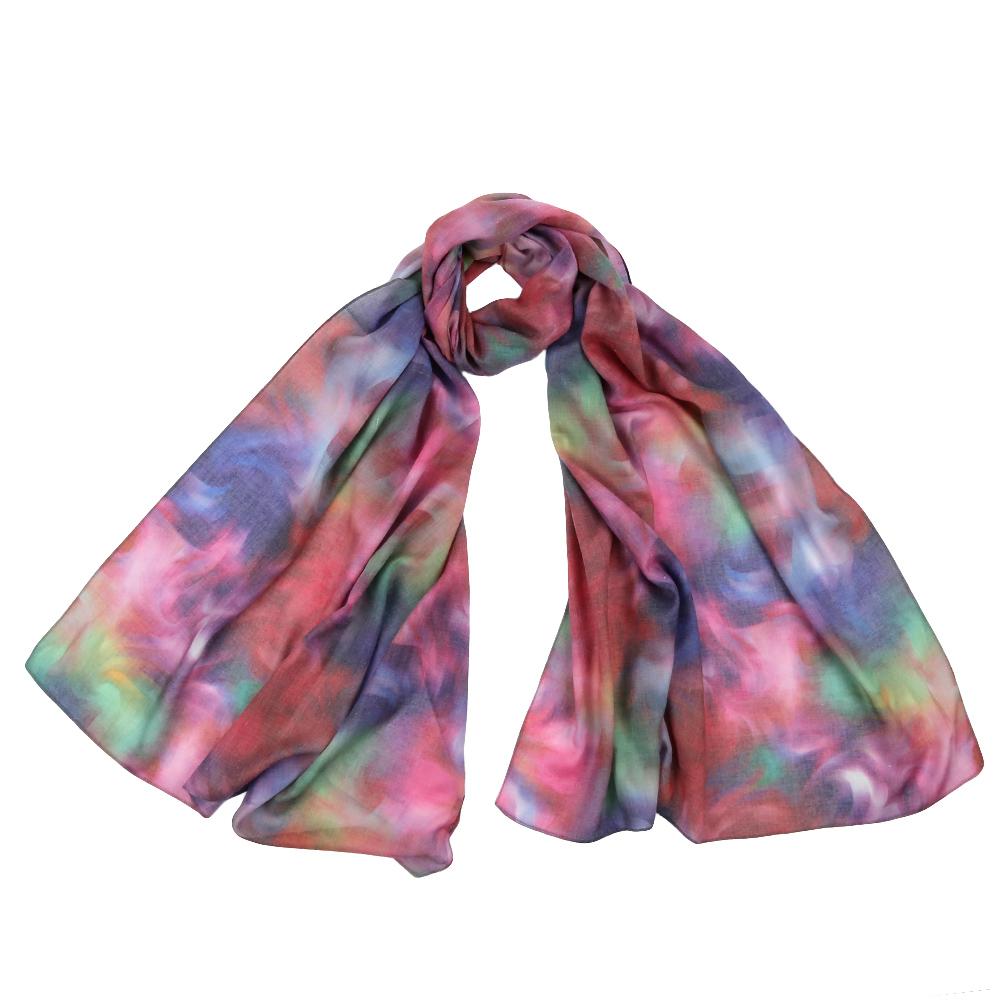 Шарф женский Fabretti, цвет: красный, голубой. F1543. Размер 70 см х 190 смF1543-2Стильный шарф поможет внести живость в любой образ, подарит уют и согреет от холодного ветра. Выполнен из высококачественного материала и оформлен оригинальным принтом.