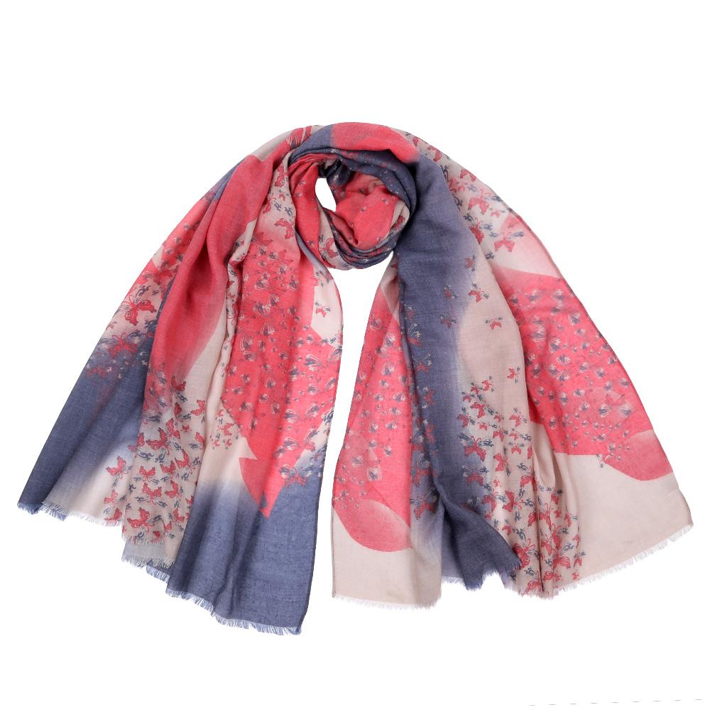 Шарф женский Fabretti, цвет: красный, серый. F1513. Размер 92 см х 190 смF1513-5Стильный шарф поможет внести живость в любой образ, подарит уют и согреет от холодного ветра. Оформлен оригинальным принтом.
