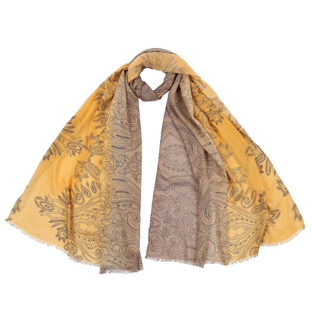 Шарф женский Fabretti, цвет: желтый. DS2016-002. Размер 70 см х 180 смDS2016-002-30Стильный шарф поможет внести живость в любой образ, подарит уют и согреет от холодного ветра. Выполнен из высококачественного материала.