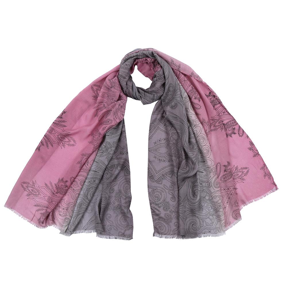 Шарф женский Fabretti, цвет: серый. DS2016-002. Размер 70 см х 180 смDS2016-002-26Стильный шарф поможет внести живость в любой образ, подарит уют и согреет от холодного ветра. Выполнен из высококачественного материала.