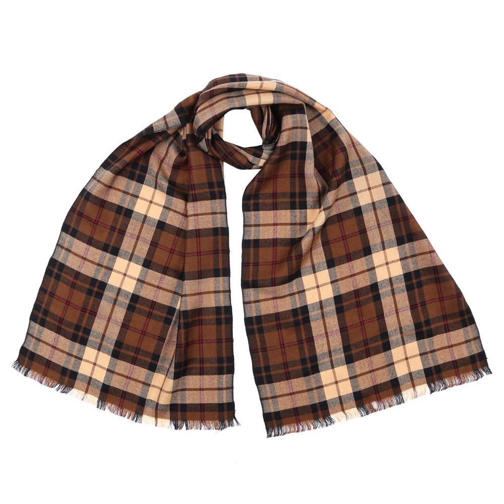 Шарф женский Fabretti, цвет: бежево-коричневый. 9172. Размер 40 см х 184 см9172-2Стильный шарф поможет внести живость в любой образ, подарит уют и согреет от холодного ветра. Выполнен из высококачественного материала и оформлен оригинальным принтом.