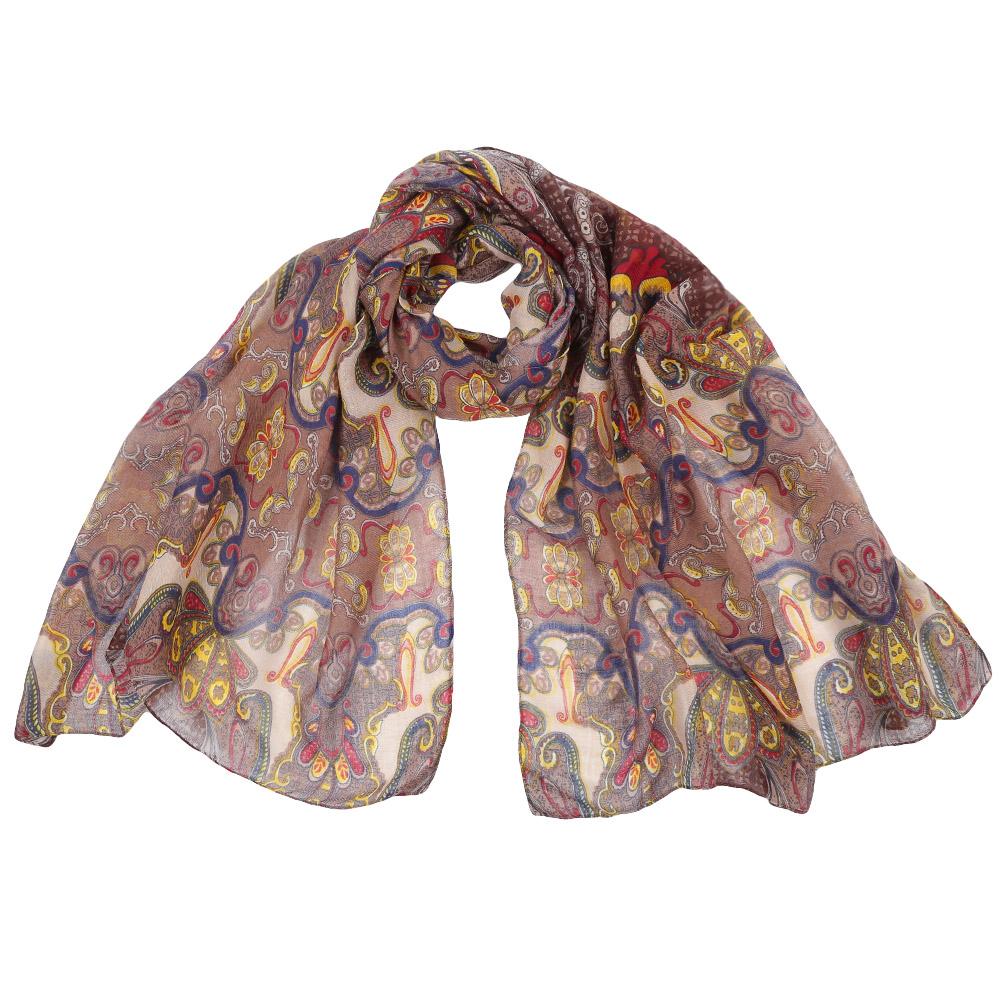 Шарф женский Fabretti, цвет: бежевый. 151559. Размер 85 см х 186 см151559-3Стильный шарф поможет внести живость в любой образ, подарит уют и согреет от холодного ветра. Выполнен из высококачественного материала и оформлен оригинальным принтом.