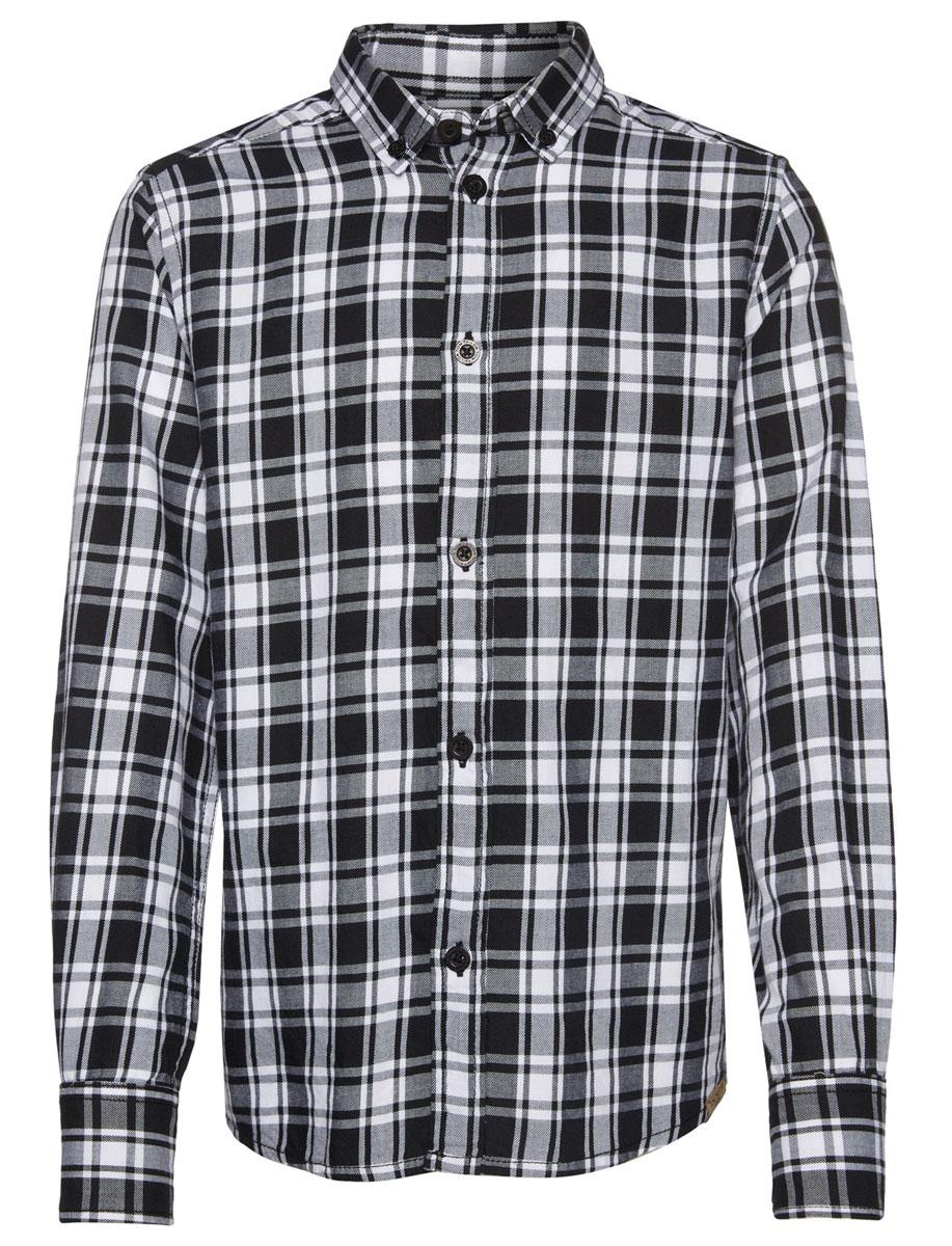 Рубашка для мальчика Tom Tailor, цвет: черный, белый. 2032246.00.30_2999. Размер 1642032246.00.30_2999Стильная рубашка Tom Tailor станет отличным дополнением к гардеробу вашего мальчика. Модель, выполненная из натурального хлопка, необычайно мягкая и приятная на ощупь, не сковывает движения и позволяет коже дышать, не раздражает даже самую нежную и чувствительную кожу ребенка, обеспечивая наибольший комфорт. Рубашка классического кроя с длинными рукавами и отложным воротником застегивается на пуговицы по всей длине и оформлена принтом в клетку. На манжетах предусмотрены застежки-пуговицы. Воротник пристегивается к рубашке с помощью пуговиц. Оригинальный современный дизайн и актуальная расцветка делают эту рубашку модным и стильным предметом детского гардероба.
