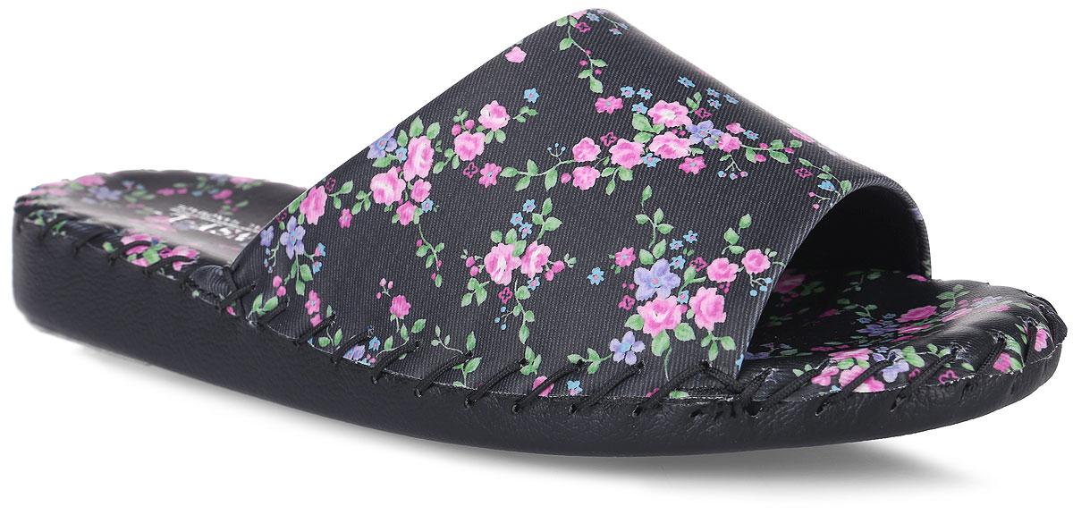 Тапки женские Pansy, цвет: черный. 9387. Размер LL (39)9387_BlackДомашняя обувьот Pansy - стандарт технологий комфорта из Японии:Mould - тапки Pansy проектируется и изготавливается по технологии современной модельной обуви: многослойная подошва и обувные материалы, обеспечивают функциональность модельной обуви при весе одного тапка от 100 до max 150 г . 3 Point - японская ортопедическая подошва снижает нагрузку на основные опорные точки, уменьшает разогрев стопы и поддерживает ее в оптимальном положении. Aerolite - технология фирмы Teijin Cordley Ltd. по изготовлению искусственной кожи с заранее заданными свойствами. Волокна аэрокапсульного волокна с включениями пузырьков воздуха выращивают с параметрами превышающие характеристики натуральной кожи по массе, гигроскопичности и износостойкости. Cool Max - сетка, используемая для быстрого отвода и испарения влаги, снижения температуры на особо нагруженных поверхностях по патенту фирмы Toray Inc. Zeomix - глубокая антибактериальная обработка ионами серебра по технологии Asahi Karuray на все время эксплуатации.Biosil - пропитка деодорантом Dow Jones Corning длительного действия эффективно нейтрализует запахи. Super Fine - грязеотталкивающее покрытие, обеспечивающее легкое удаление загрязнений влажной салфеткой. Функцию антискольжения - выполняют специальные нашивки на подошве.Тепло человеческих рук - используется при ручном соединении верхней стельки к подошве с помощью традиционной скорняжной техники.Модель выполнена из искусственной кожи, оформленной нежным цветочным принтом.Удобные тапочки - незаменимая вещь в гардеробе каждой женщины!
