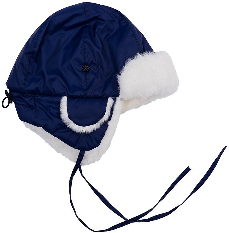 Шапка-ушанка для мальчика PlayToday, цвет: темно-синий. 361179. Размер 54361179Теплая шапка-ушанка для мальчика выполнена из непромокаемой плащевки с отделкой из искусственного меха. Мягкая флисовая подкладка держит тепло и обеспечивает дополнительное удобство. Стоппер на затылке и завязки позволяют плотно закрепить модель на голове.Уважаемые клиенты! Обращаем ваше внимание на тот факт, что размер, доступный для заказа, является обхватом головы.