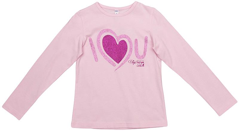 Лонгслив для девочки PlayToday, цвет: розовый. 362068. Размер 104362068Уютный хлопковый лонгслив с эластичной бейкой на воротнике. Универсальный цвет позволяет сочетать его с любой одеждой. Модель оформлена резиновым принтом с блестящим глиттером.