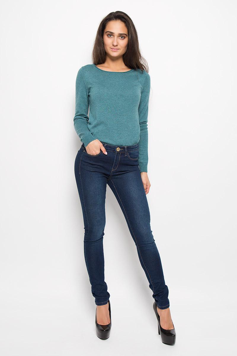 Джинсы женские Sela Denim, цвет: темно-синий. PJ-135/577-6352. Размер 28-34 (44-34)PJ-135/577-6352Стильные женские джинсы Sela Denim подчеркнут ваш уникальный стиль и помогут создать оригинальный женственный образ. Модель выполнена из высококачественного эластичного хлопка с добавлением полиэстера. Материал мягкий и приятный на ощупь, не сковывает движения и позволяет коже дышать.Джинсы-скинни со стандартной посадкой застегиваются на пуговицу в поясе и ширинку на застежке-молнии. На поясе предусмотрены шлевки для ремня. Джинсы имеют классический пятикарманный крой: спереди модель оформлена двумя втачными карманами и одним маленьким накладным кармашком, а сзади - двумя накладными карманами. Модель оформлена эффектом притертости и контрастной прострочкой. Эти модные и в тоже время комфортные джинсы послужат отличным дополнением к вашему гардеробу.
