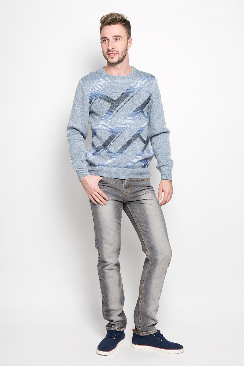 Джинсы мужские Sela, цвет: серый. PJ-235/1043-6362. Размер 30-34 (46-34)PJ-235/1043-6362Стильные мужские джинсы Sela станут отличным дополнением к вашему гардеробу. Модель, изготовленная из хлопка с добавлением полиэстера, очень мягкая, тактильно приятная, не сковывает движения и позволяет коже дышать.Джинсы прямого кроя и стандартной посадки застегиваются на пуговицу в поясе и ширинку на застежке-молнии. На поясе предусмотрены шлевки для ремня. Джинсы имеют классический пятикарманный крой: спереди модель оформлена двумя втачными карманами и одним маленьким накладным кармашком, а сзади - двумя накладными карманами. Модель оформлена контрастной прострочкой, перманентными складками и эффектом потертости.Эти модные и в тоже время комфортные джинсы послужат отличным дополнением к вашему гардеробу.