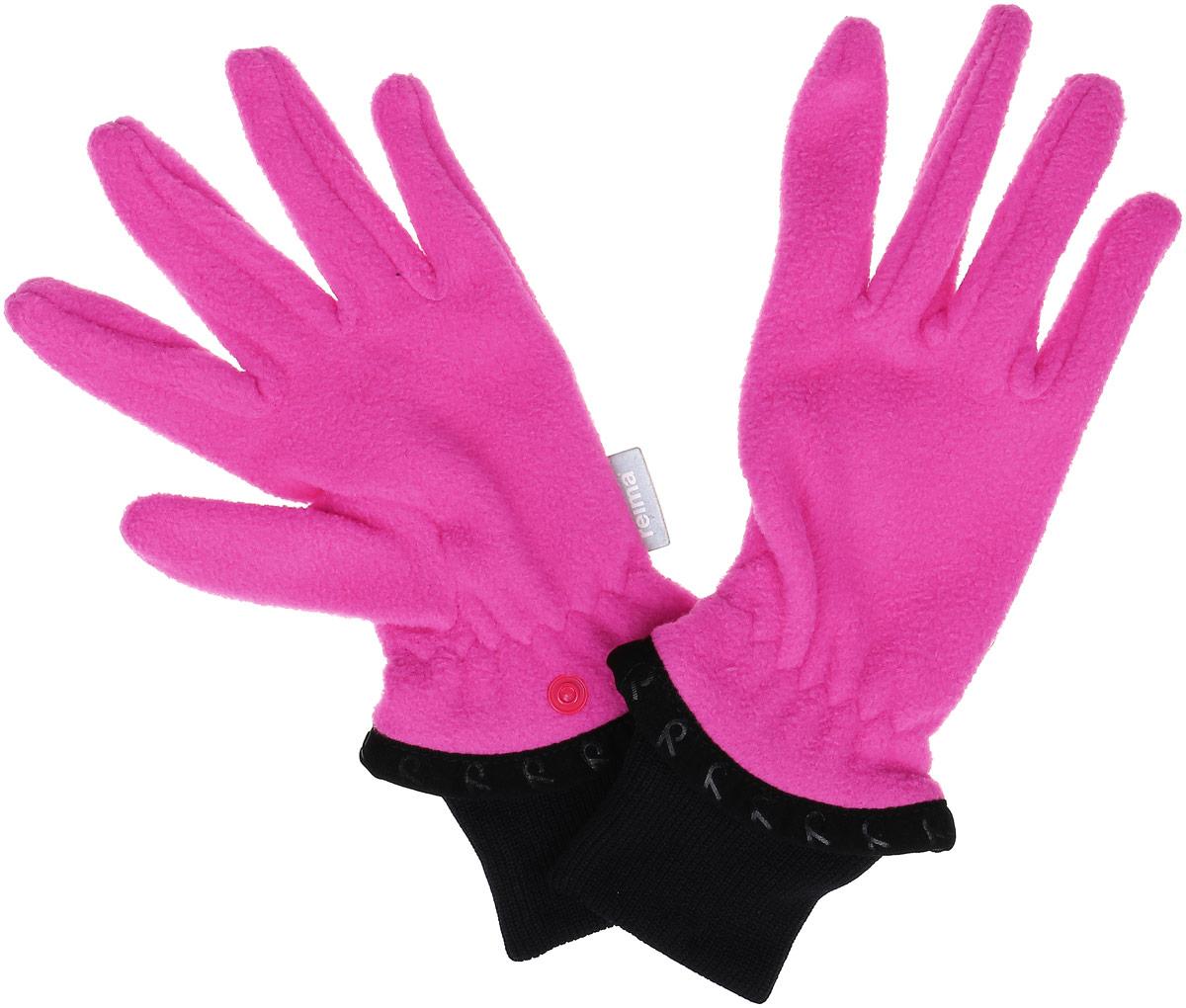 Перчатки детские Reima Tollense, цвет: розовый. 527191-4620A-007. Размер 7527191-4620AДетские флисовые перчатки Reima Tollense согреют ручки вашего ребенка в холодную погоду. Флисовый материал - теплый и мягкий на ощупь. Эластичные ребристые манжеты перчаток плотно облегают и хорошо смотрятся. Благодаря кнопкам вы легко можете соединить перчатки вместе для удобства хранения.В ясные осенние и весенние дни эти перчатки – сами по себе великолепный выбор для игр на воздухе, в то время как зимой их можно одеть под зимние варежки или перчатки для дополнительного тепла.