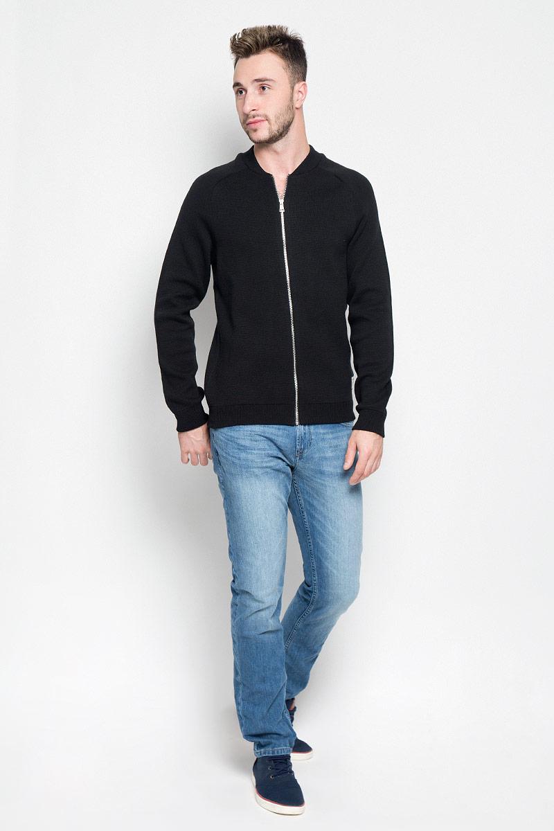 Кофта мужская Tom Tailor Denim, цвет: черный. 3021732.00.12_2999. Размер XL (52) кофта мужская tom tailor denim цвет темно синий 2530369 00 12 6576 размер xl 52