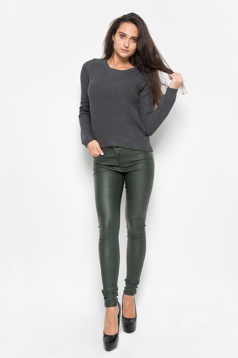 Джемпер женский Vero Moda, цвет: серый. 10161267. Размер L (46) пуловер женский vero moda soon цвет серый 10162346 размер l 46
