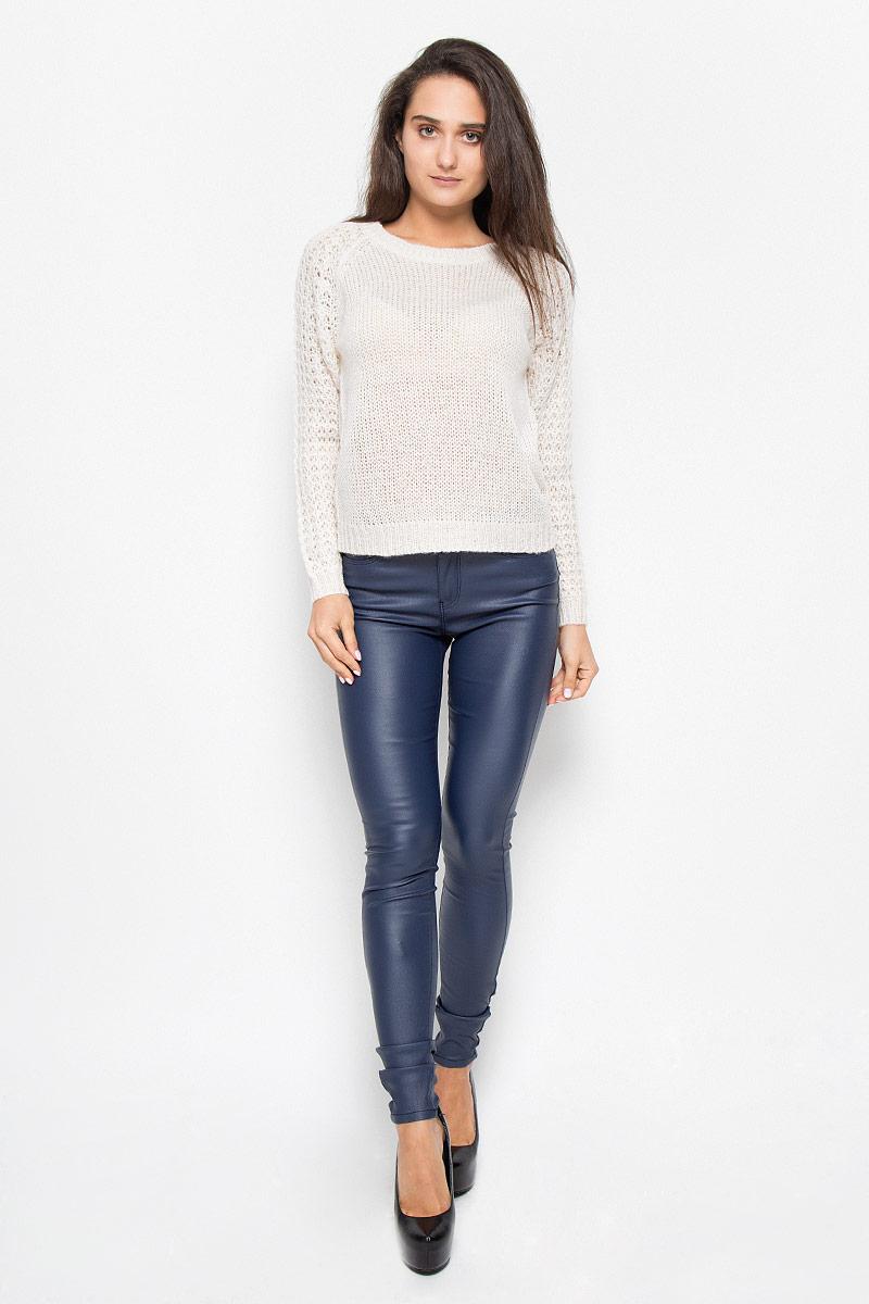Джемпер женский Vero Moda, цвет: кремовый. 10157940. Размер L (46) пуловер женский vero moda soon цвет серый 10162346 размер l 46