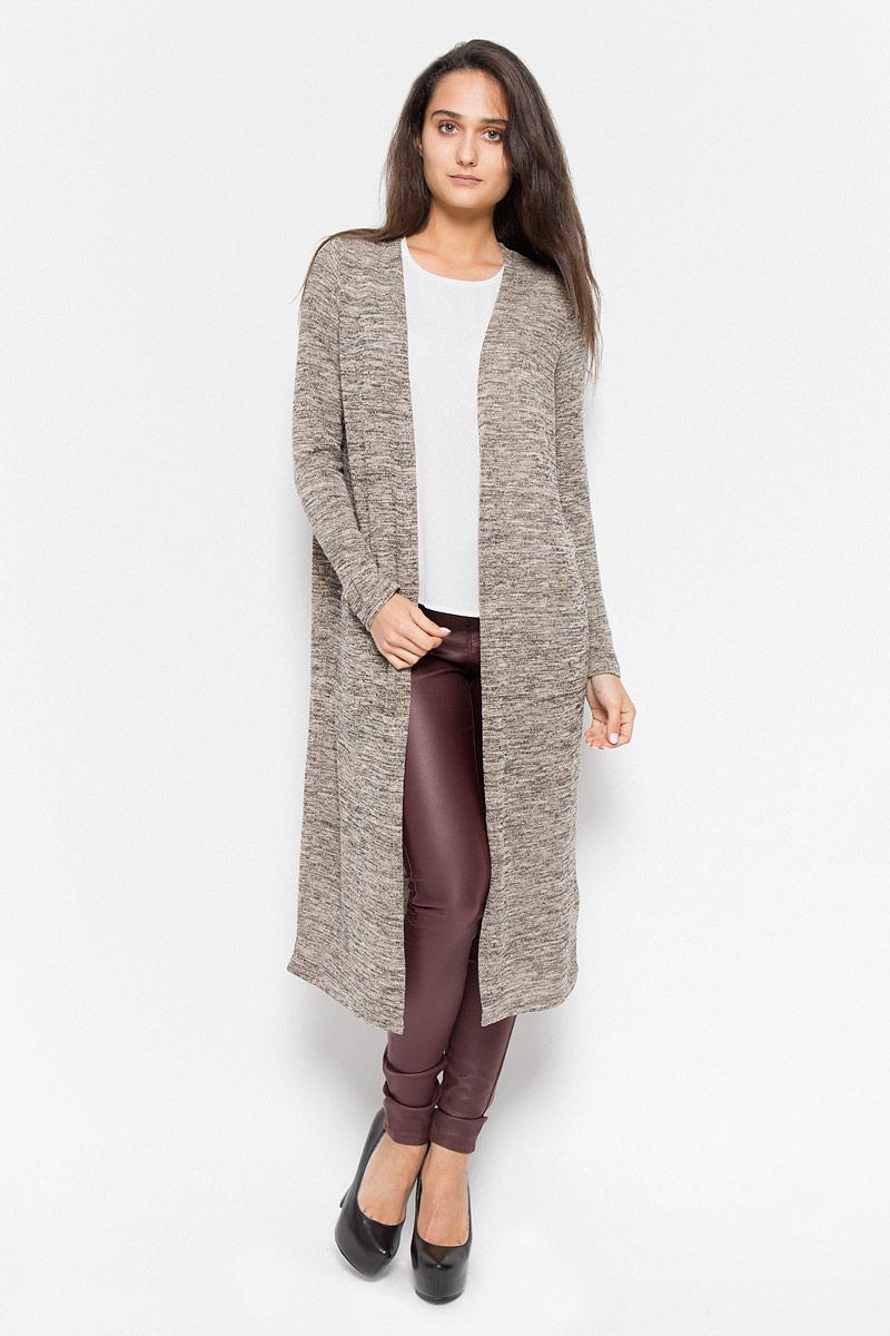 Кардиган женский Vero Moda, цвет: коричневый, бежевый. 10159463. Размер XS (40)10159463_Decadent ChocolateКлассический женский кардиган Vero Moda будет гармонично смотреться в сочетании, как с джинсами, брюками, так и с юбками. Выполнен кардиган из высококачественной пряжи, мягкий и приятный на ощупь. В нем вы будете чувствовать себя уютно в прохладное время года.