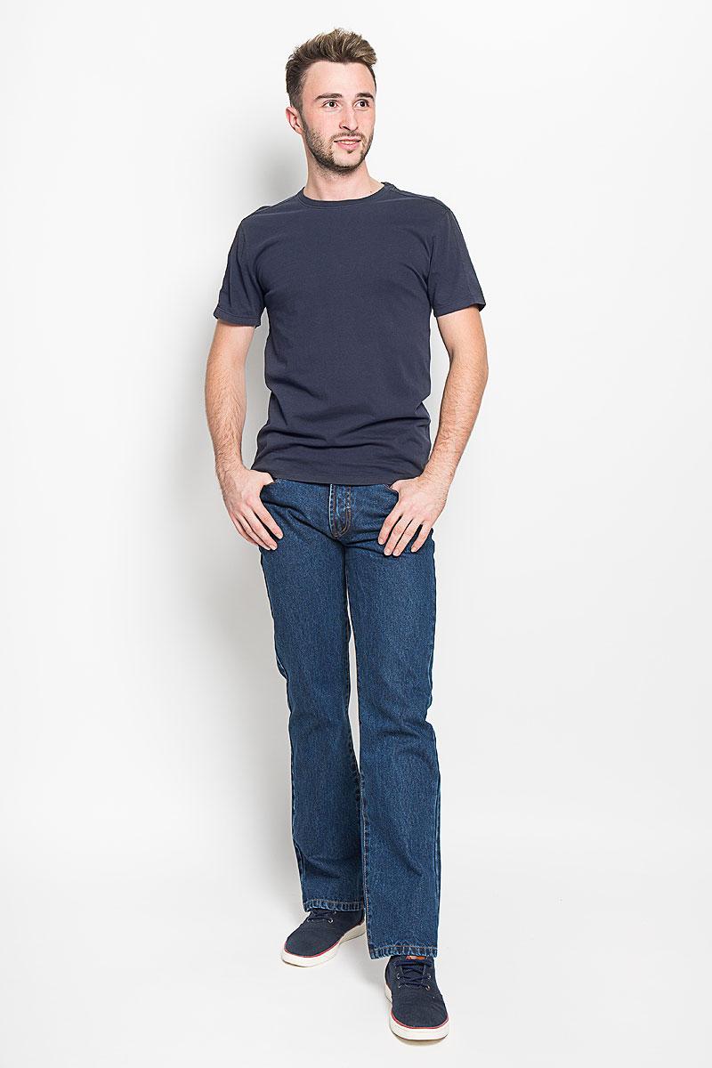 Футболка мужская Only & Sons, цвет: серо-синий. 22003963. Размер L (48)22003963_Dark NavyОригинальная мужская футболка Only & Sons, выполненная из высококачественного хлопка, обладает высокой теплопроводностью, воздухопроницаемостью и гигроскопичностью, позволяет коже дышать. Модель с короткими рукавами и круглым вырезом горловины, оформлена в лаконичном стиле. Горловина дополнена эластичной трикотажной резинкой. Идеальный вариант для тех, кто ценит комфорт и качество.
