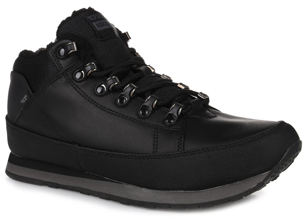 Ботинки мужские Patrol, цвет: черный. 586-754IM-17w-01-1. Размер 42586-754IM-17w-01-1Стильные мужские ботинки от Patrol займут достойное место в вашем гардеробе. Модель выполнена из искусственной кожи со вставками из текстиля. Подкладка и стелька из искусственного меха отлично сохраняют тепло. Изделие на классической шнуровке, что способствует надежной фиксации на ноге. Задник и язычок декорированы фирменным логотипом. Данные ботинки можно сочетать с самыми разнообразными вещами вашего гардероба, они сделают вас ярче и подчеркнут индивидуальность.