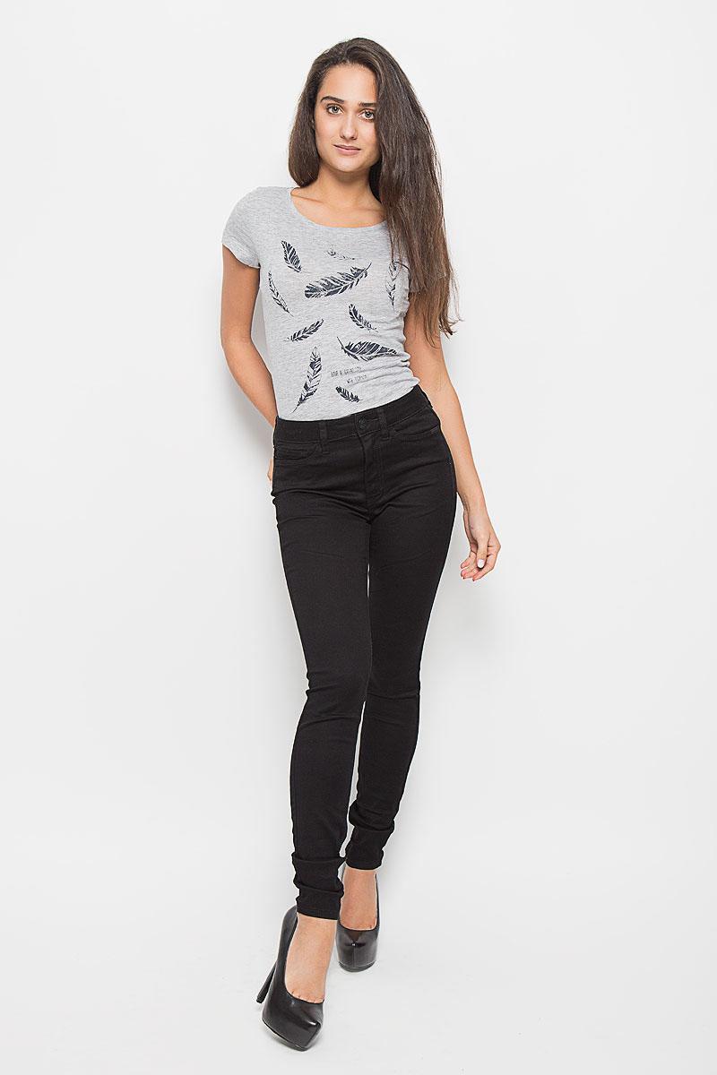 Джинсы женские Tom Tailor Denim Janna, цвет: черный. 6204848.00.71_2999. Размер 25-32 (40/42-32)6204848.00.71_2999Стильные женские джинсы Tom Tailor Denim Janna - это джинсы высочайшего качества, которые прекрасно сидят. Они выполнены из высококачественного комбинированного материала, что обеспечивает комфорт и удобство при носке. Модные джинсы скинни высокой посадки станут отличным дополнением к вашему современному образу. Джинсы застегиваются на пуговицу в поясе и ширинку на застежке-молнии, имеют шлевки для ремня. Джинсы имеют классический пятикарманный крой: спереди модель оформлена двумя втачными карманами и одним маленьким накладным кармашком, а сзади - двумя накладными карманами.Эти модные и в то же время комфортные джинсы послужат отличным дополнением к вашему гардеробу.