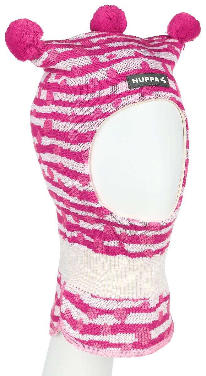 Шапка-шлем для девочки Huppa COCO, цвет: розовый, молочный. 85070000-63363. Размер 43/4585070000-63363Теплая шапка-шлем Huppa Coco выполнена из мериносовой шерсти с добавлением акрила, подкладка выполнена из натурального хлопка. Изделие оснащено мембраной для защиты ушей от холода. Модель декорирована тремя небольшими помпонами. Шейная часть изделия связана резинкой. Уважаемые клиенты! Обращаем ваше внимание на тот факт, что размер, доступный для заказа, является обхватом головы.