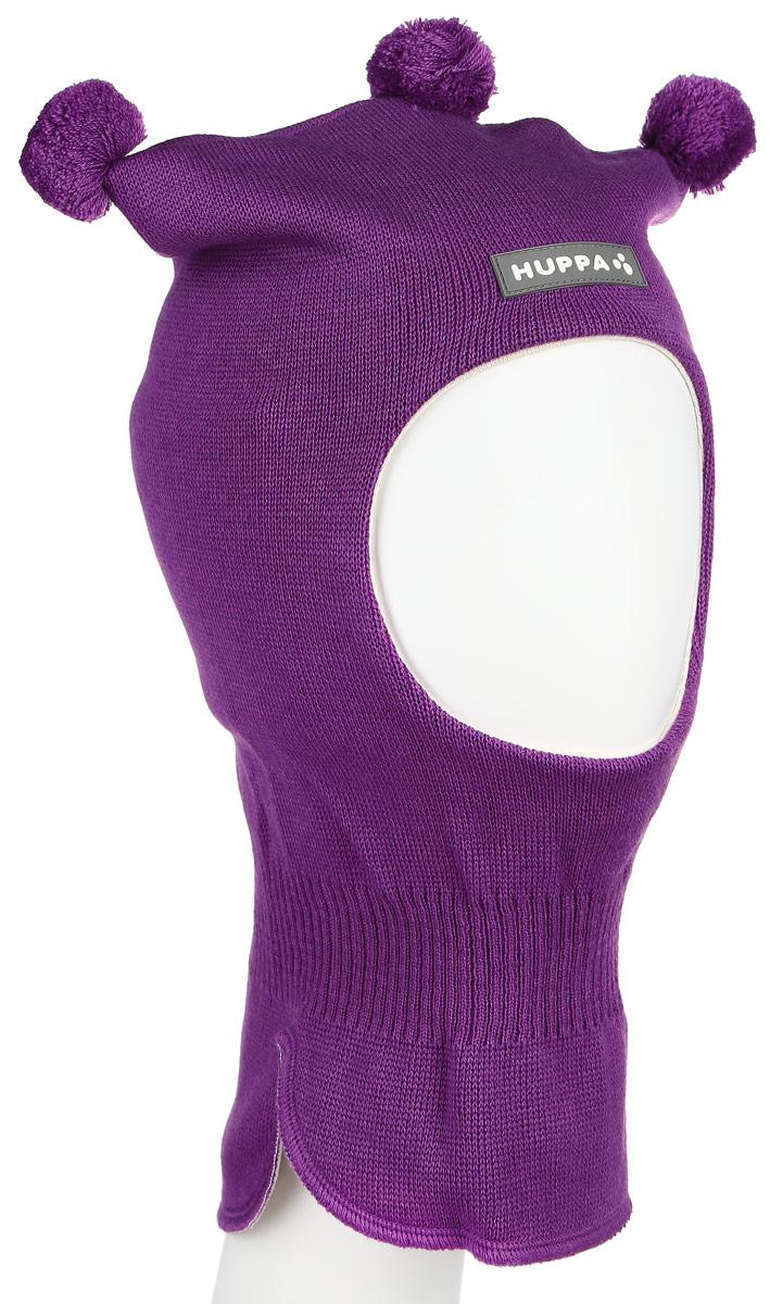 Шапка-шлем для девочки Huppa COCO, цвет: фиолетовый. 85070000-60073. Размер 43/4585070000-60073Теплая шапка-шлем Huppa Coco выполнена из мериносовой шерсти с добавлением акрила, подкладка выполнена из натурального хлопка. Изделие оснащено мембраной для защиты ушей от холода. Модель декорирована тремя небольшими помпонами. Шейная часть изделия связана резинкой. Уважаемые клиенты! Обращаем ваше внимание на тот факт, что размер, доступный для заказа, является обхватом головы.