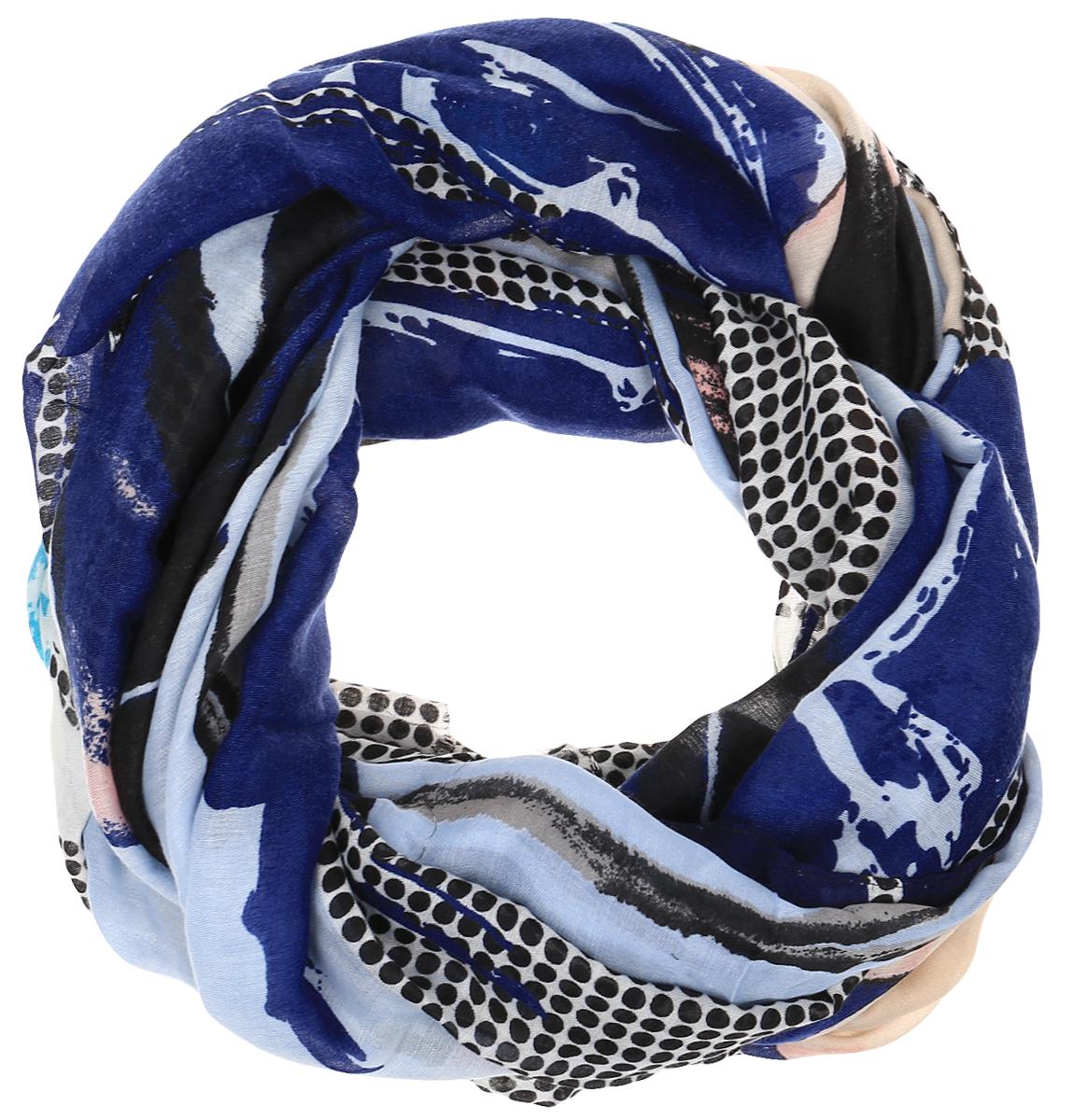 Палантин Sophie Ramage, цвет: синий, голубой, черный. HL-21667-6. Размер 90 см х 180 смHL-21667-6Элегантный палантин Sophie Ramage станет достойным завершением вашего образа. Палантин изготовлен из 100% модала, что придает изделию легкость и мягкость. Оформлена модель ярким цветочным принтом. Палантин красиво драпируется, он превосходно дополнит любой наряд и подчеркнет ваш изысканный вкус. Легкий и изящный палантин привнесет в ваш образ утонченность и шарм.