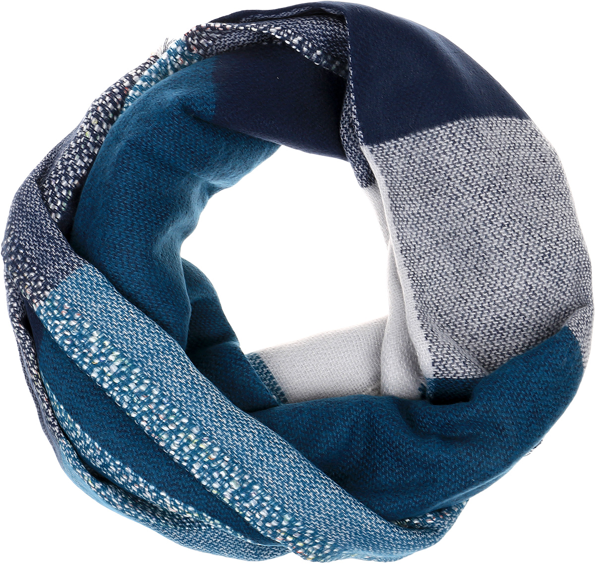 Палантин Sophie Ramage, цвет: синий, бирюзовый, серый. HL-21670-15. Размер 70 см х 180 смHL-21670-15Элегантный палантин Sophie Ramage станет достойным завершением вашего образа. Палантин изготовлен из акрила с добавлением высококачественной шерсти. Модель выполнена принтом в клетку и дополнена небольшой бахромой. Палантин красиво драпируется, он превосходно дополнит любой наряд и подчеркнет ваш изысканный вкус. Легкий и изящный палантин привнесет в ваш образ утонченность и шарм.