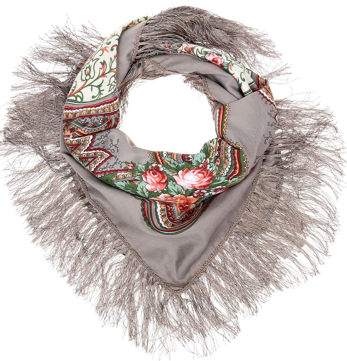 Платок Sophie Ramage, цвет: бежевый. YY-21660-14. Размер 130 см х 130 смYY-21660-14Элегантный платок Sophie Ramage станет достойным завершением вашего образа. Платок изготовлен из модала с добавлением шерсти и полиэстера. Оформлена модель яркими цветочными узорами в стиле хохломы и дополнена стильной бахромой. Платок красиво драпируется, он превосходно дополнит любой наряд и подчеркнет ваш изысканный вкус. Легкий и изящный платок привнесет в ваш образ утонченность и шарм.