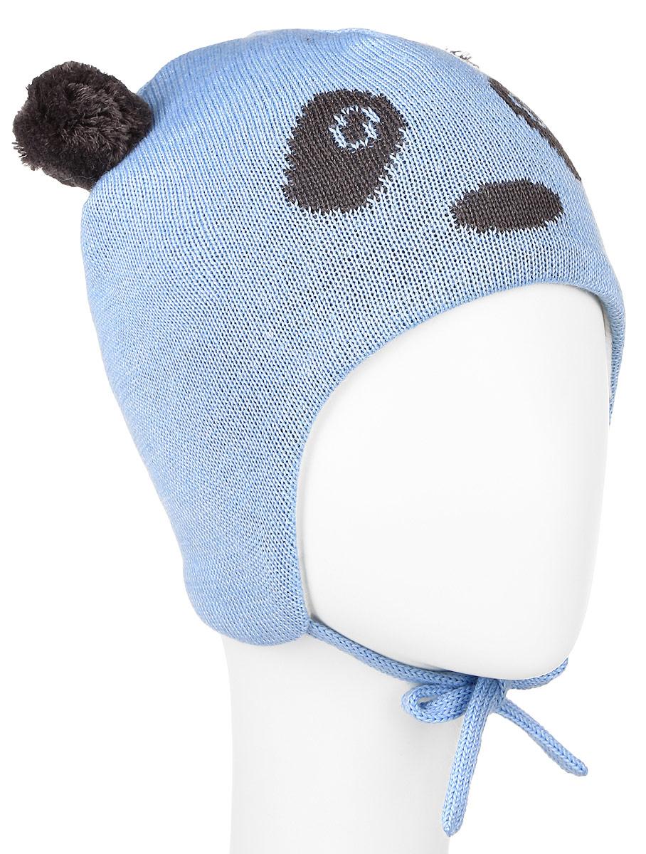 Шапка детская Lassie, цвет: голубой, темно-серый. 718698-6110. Размер XXS (42/44)718698-6110Комфортная детская шапка Reima Lassie идеально подойдет для прогулок в холодное время года. Вязаная шапка с ветрозащитными вставками в области ушей, выполненная из шерсти и акрила, максимально сохраняет тепло, она мягкая и идеально прилегает к голове. Мягкая подкладка выполнена из флиса, поэтому шапка хорошо сохраняет тепло и обладает отличной гигроскопичностью (не впитывает влагу, но проводит ее).Шапка завязывается на завязки под подбородком и оформлена двумя помпонами, небольшой мордочкой медвежонка и светоотражающей нашивкой с названием бренда.В ней ваш ребенок будет чувствовать себя уютно и комфортно. Уважаемые клиенты!Размер, доступный для заказа, является обхватом головы.