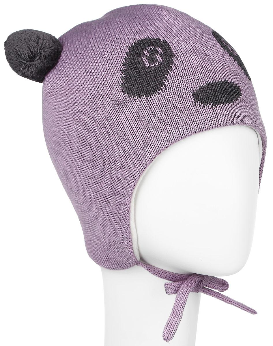 Шапка детская Lassie, цвет: сиреневый, темно-серый. 718698-5120. Размер XS (44/46)718698-5120Комфортная детская шапка Reima Lassie идеально подойдет для прогулок в холодное время года. Вязаная шапка с ветрозащитными вставками в области ушей, выполненная из шерсти и акрила, максимально сохраняет тепло, она мягкая и идеально прилегает к голове. Мягкая подкладка выполнена из флиса, поэтому шапка хорошо сохраняет тепло и обладает отличной гигроскопичностью (не впитывает влагу, но проводит ее).Шапка завязывается на завязки под подбородком и оформлена двумя помпонами, небольшой мордочкой медвежонка и светоотражающей нашивкой с названием бренда.В ней ваш ребенок будет чувствовать себя уютно и комфортно. Уважаемые клиенты!Размер, доступный для заказа, является обхватом головы.