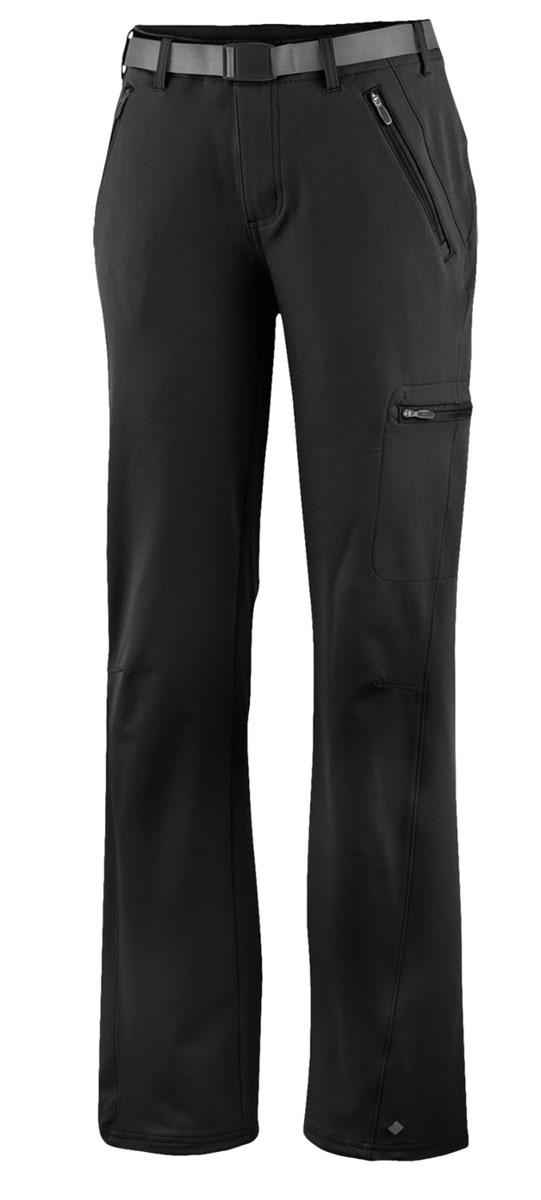 Брюки женские Columbia Maxtrail, цвет: черный. 1465971-010. Размер L (48)1465971-010Удобные брюки из высококачественного материала станут отличным выбором для горного туризма.Ткань обработана покрытием Omni-Shield, которое защищает от легкого дождя и грязи.Артикулируемые колени и ткань, которая тянется в двух направлениях, обеспечивают максимальный комфорт и полную свободу движений.Боковые карманы на молнии подойдут для надежного хранения мелочей.